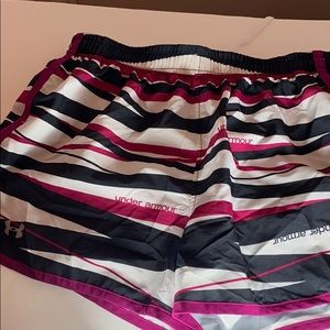 Under ARMER heat Gear. Black pink and white color